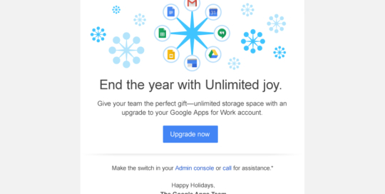 'Unlimited Joy' AdWords Email for Google