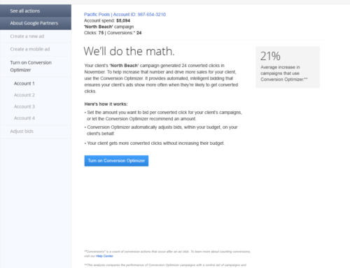 AdWords 'We'll Do The Math' Direct Response Email for Google