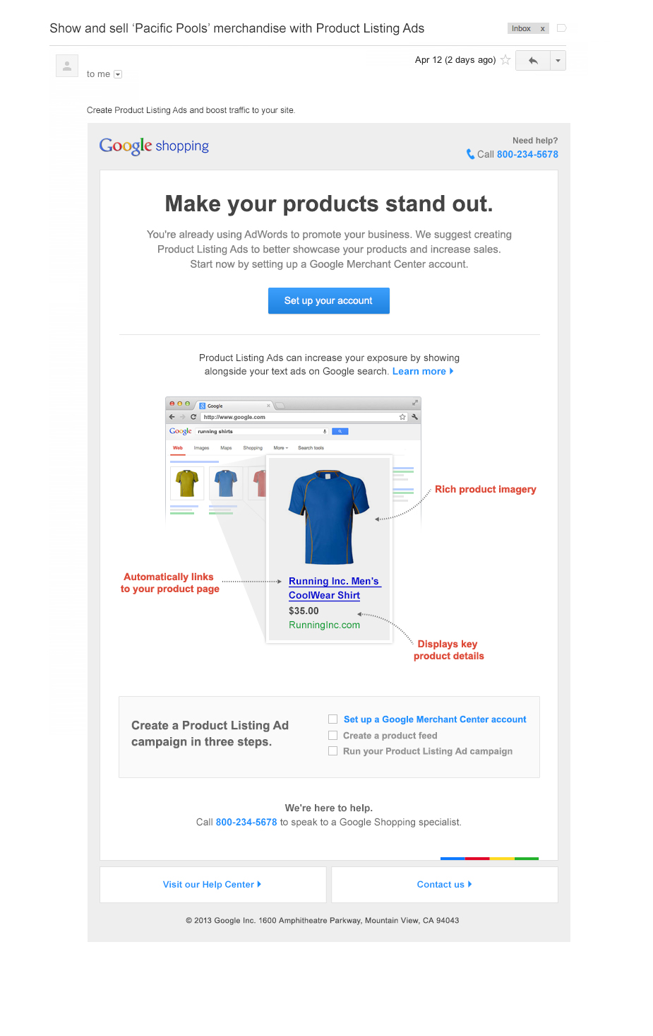 Boe Gatiss - 'Stand Out' Email for Google Shopping