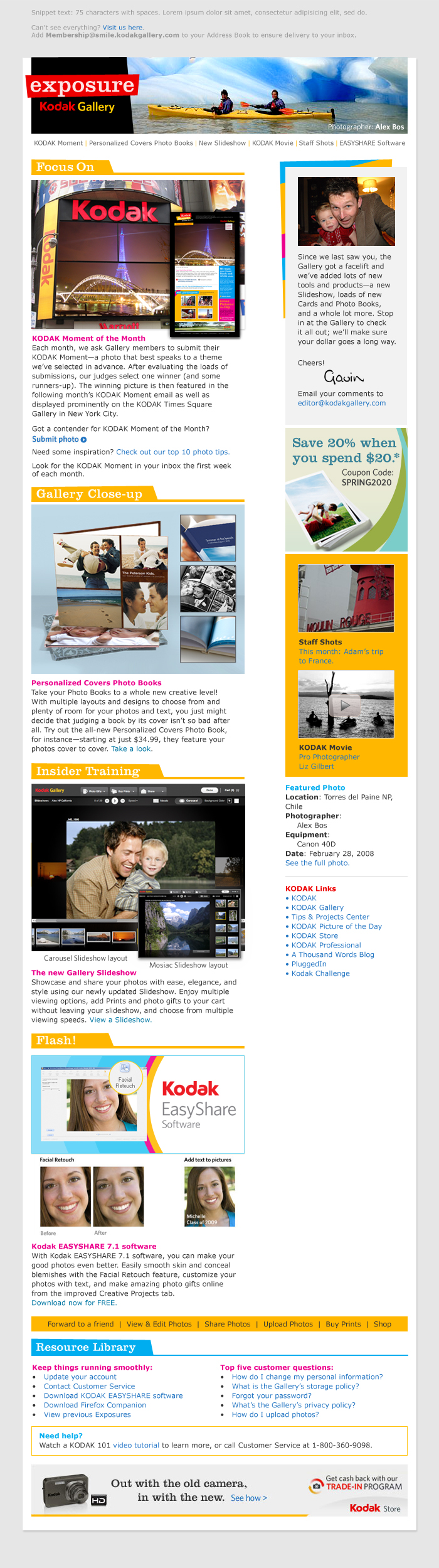 Boe Gatiss - Exposure Newsletter for Kodak Gallery