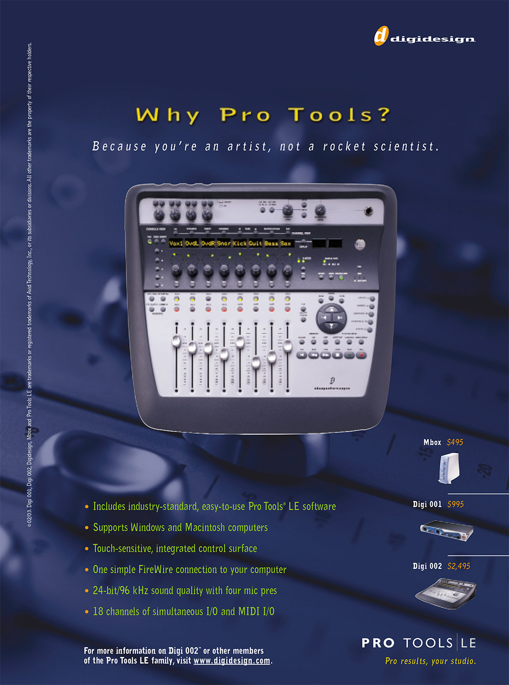 Boe Gatiss - 'Why Pro Tools?' Pro Tools LE ad for Avid / Digidesign