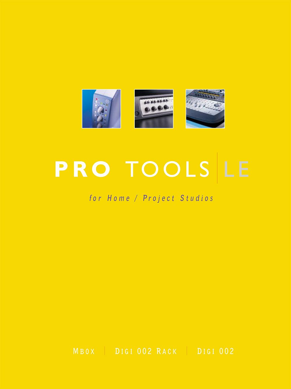 Boe Gatiss: Pro Tools LE brochure for Avid / Digidesign