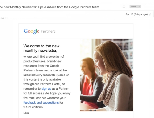 Monthly Newsletter for Google Partners
