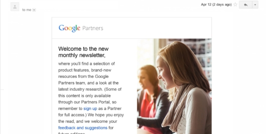 Monthly Newsletter for Google Partners