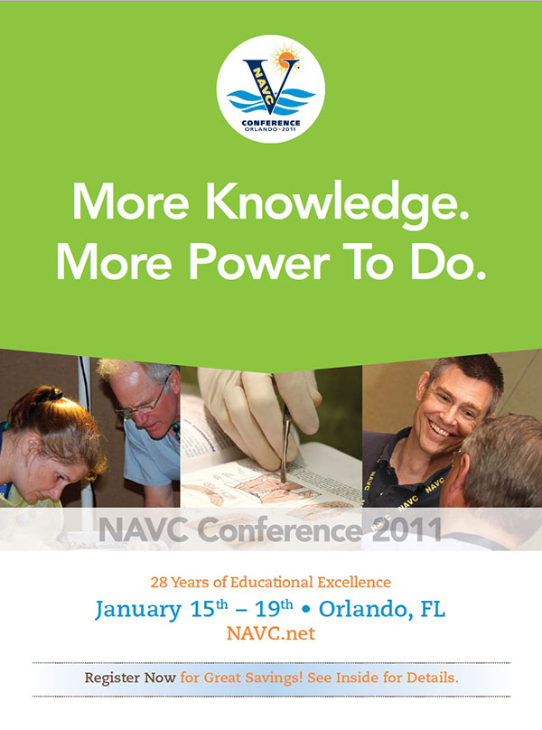 Event Insert Cover for NAVC Conference