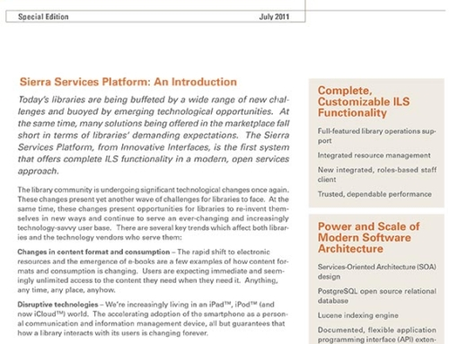 Sierra Services Platform Introduction Whitepaper
