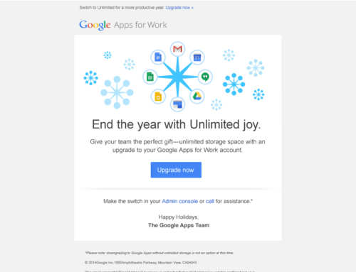 AdWords 'Unlimited Joy' Direct Response Email for Google