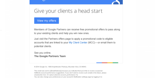 Boe Gatiss - 'Head Start' email for Google