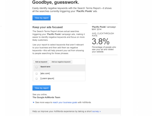 AdWords 'Goodbye Guesswork' Direct Response Email for Google