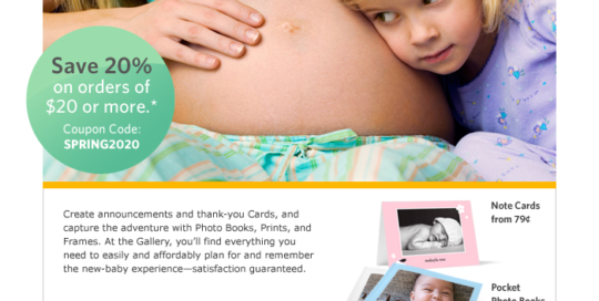 'Celebrate New Arrivals' Direct Response Email for Kodak Gallery