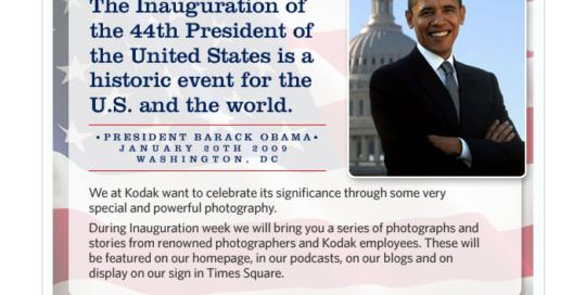 Obama Email for Kodak Gallery