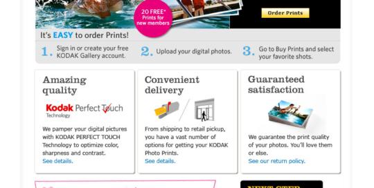 Direct Response Email for Kodak Gallery