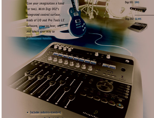 'Feel Your Music' Print Ad for Digidesign Pro Tools
