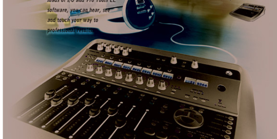 Boe Gatiss - 'Feel Your Music' Pro Tools LE print ad for Avid / Digidesign