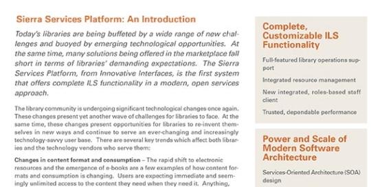 Whitepaper - Sierra Services Platform - Introduction