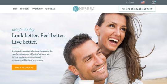 Nerium International website copy by Boe Gatiss