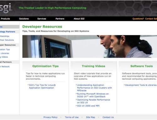 SGI Developer Program / Partners subsite